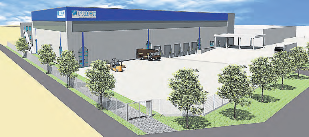Pieron is building a logistics warehouse