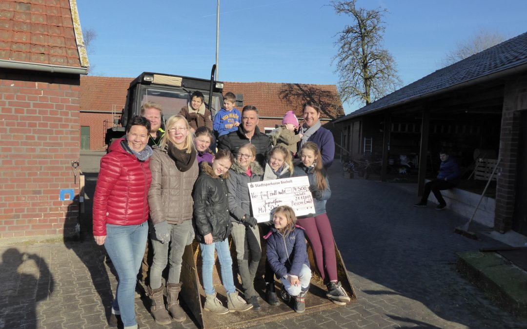 Pieron spendet für die Jugendfarm in Bocholt