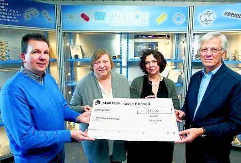 Firma Pieron spendet 1000 Euro für Lebenshilfe